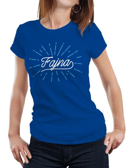 Damska niebieska koszulka Fajna