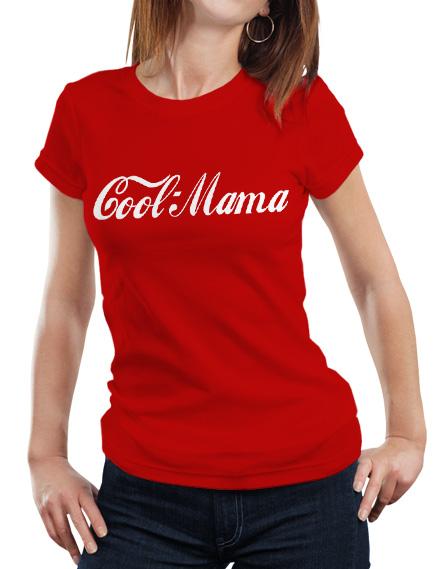 Koszulka dla mamy. Kolor koszulki czerwony,. Z przodu biały napis Cool Mama
