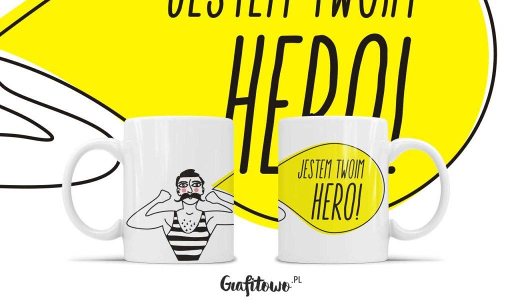 kubek dla dziewczyny Jestem Twoim Hero