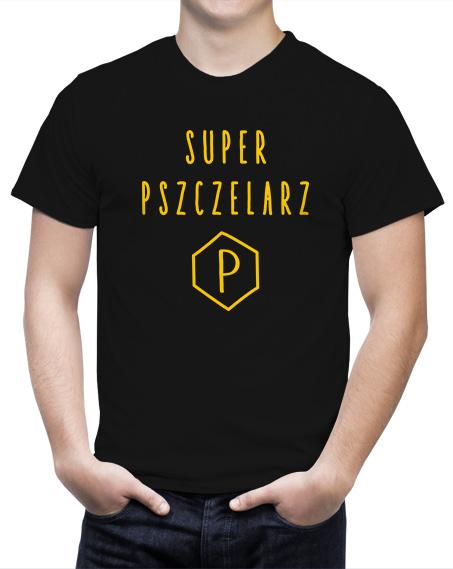 t-shirt super pszczelarz, t-shirt na prezent dla pszczelarzy