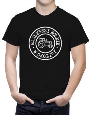 T-shirt dla rolnika z napisami Najlepszy Rolnik W Okolicy