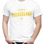 Koszulka z napisem dla pszczelarza Cudowny Pszczelarz