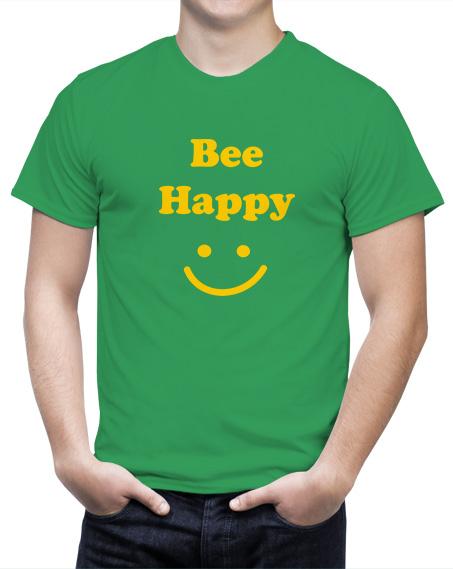 Śmieszny Prezent dla pszczelarza koszulka bee happy